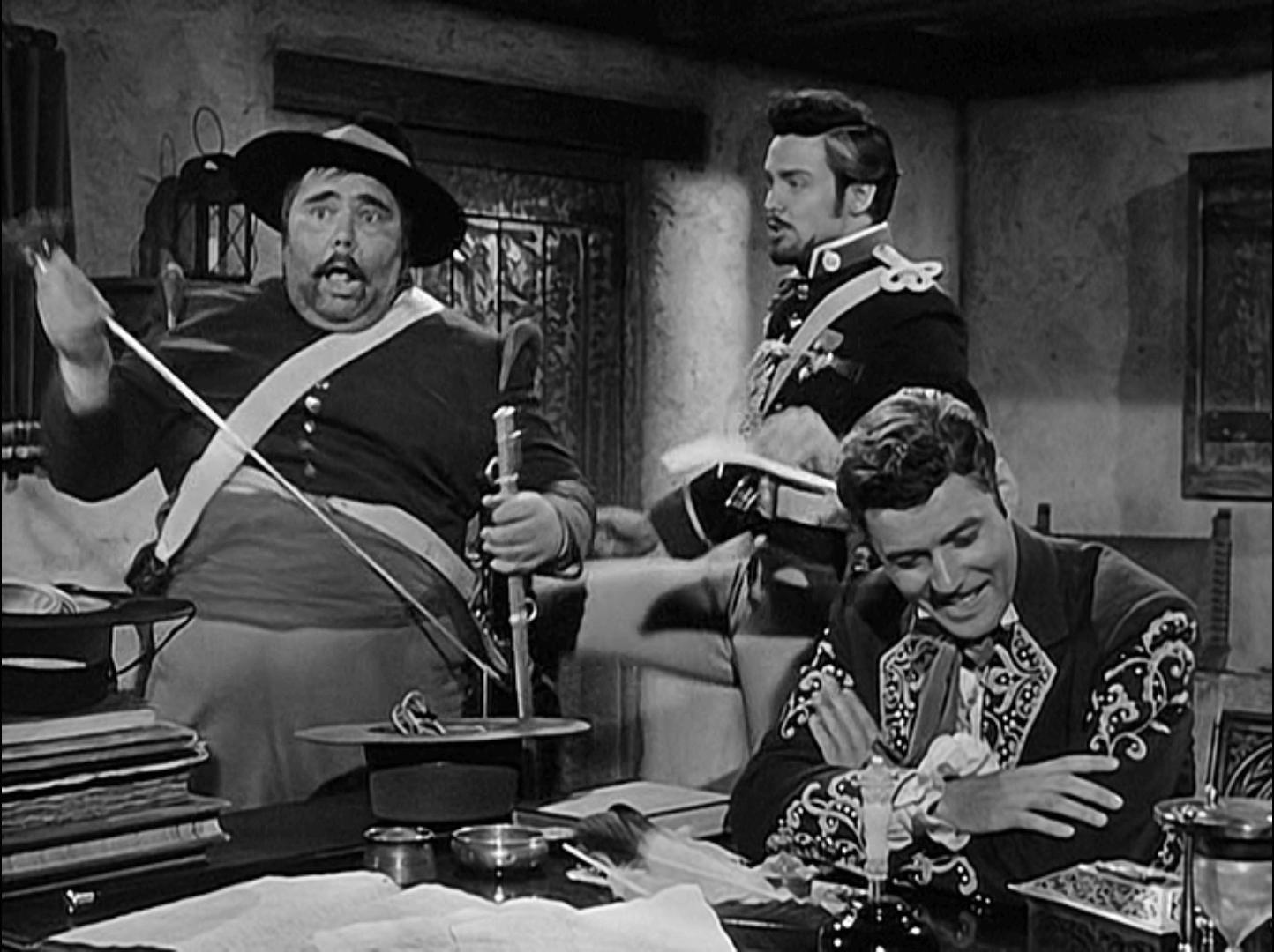 Monastario kopie Garcię, kadr z serialu Disney Zorro