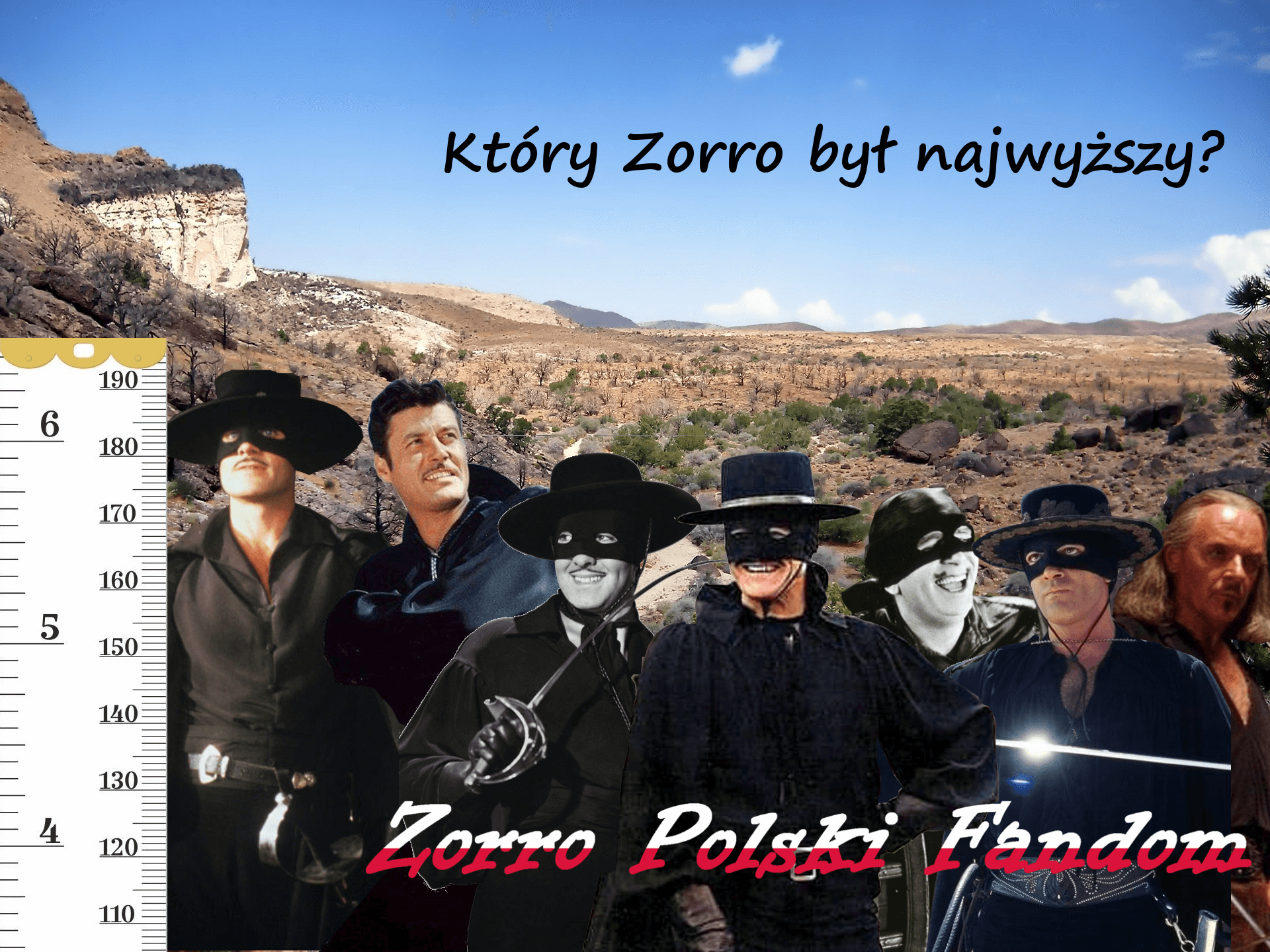 Which Zorro was tallest ENG