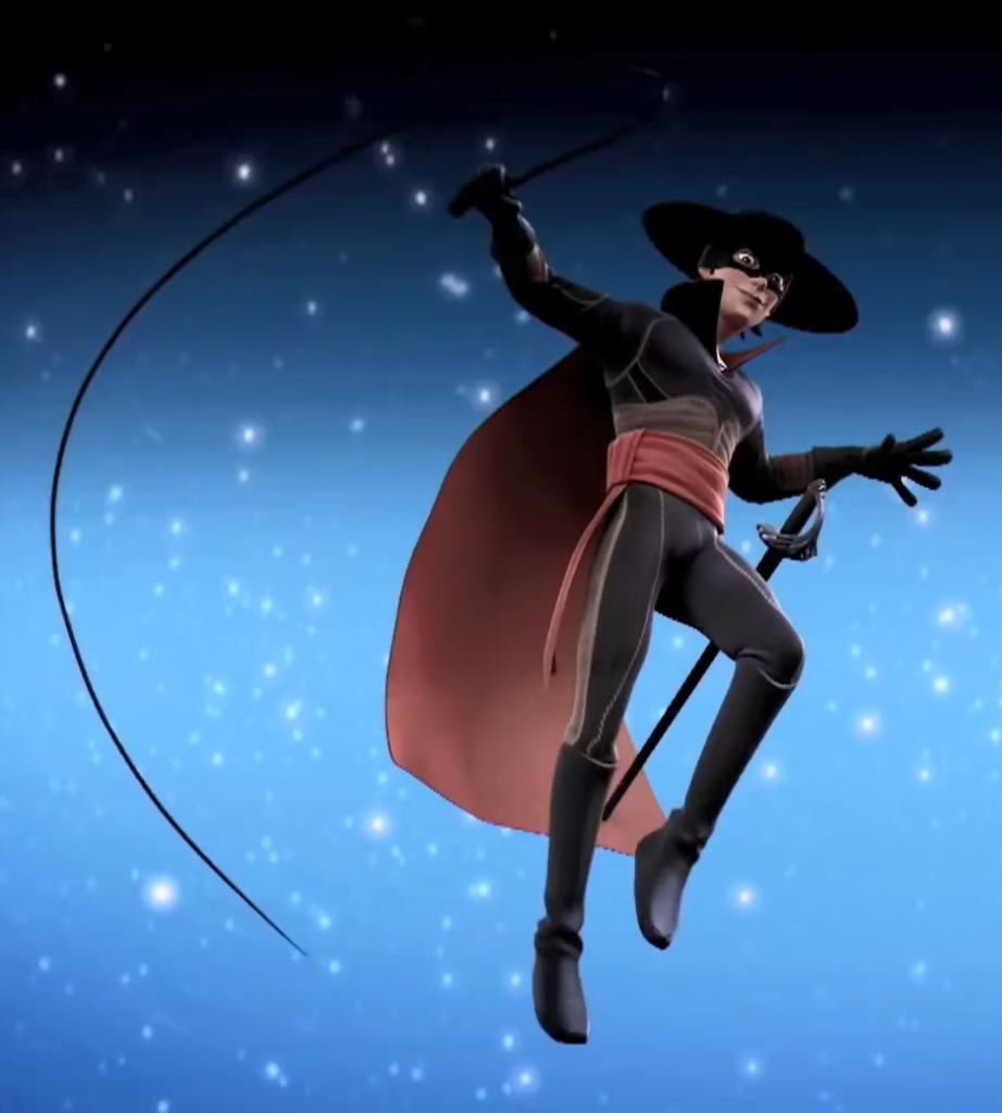 01 - 3 Strój Zorro, maska Zorro — Kroniki Zorro odcinek 1 Powrót