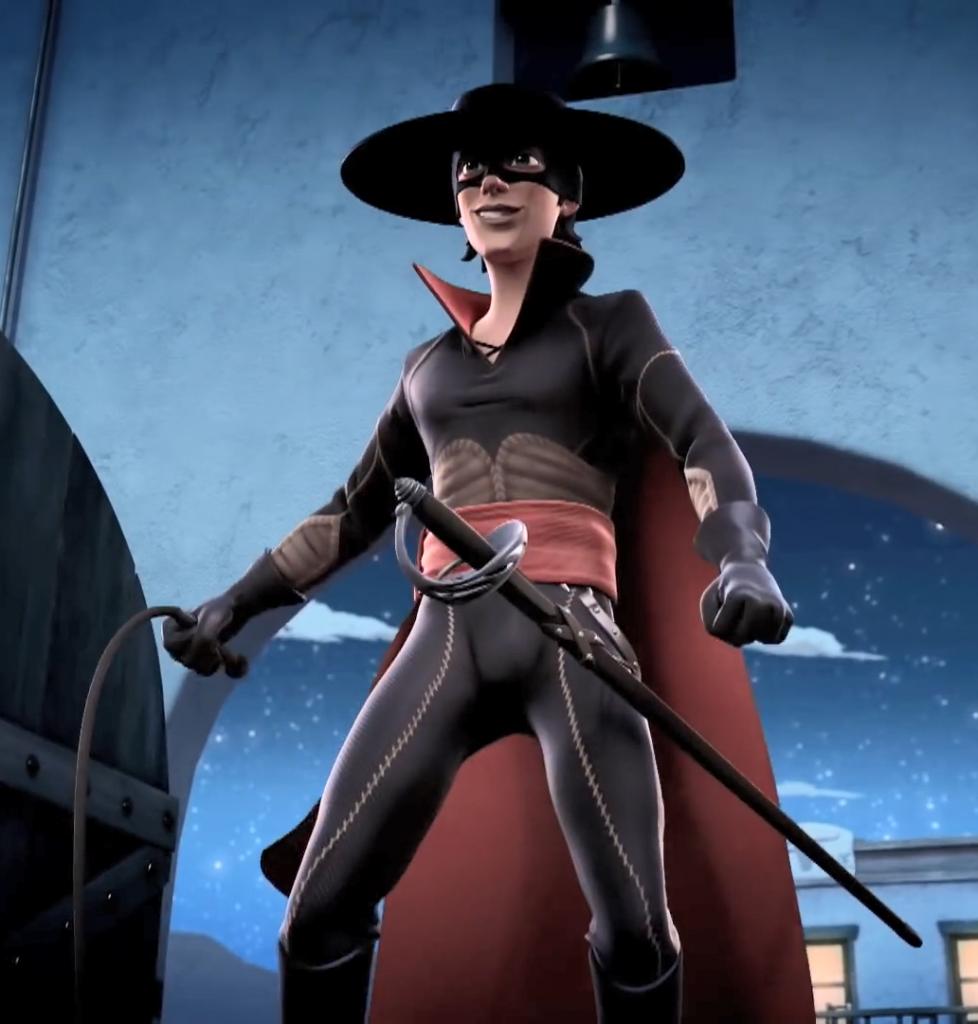 01 - 5 Strój Zorro, maska Zorro — Kroniki Zorro odcinek 1 Powrót
