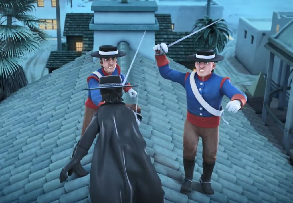 03 - pojedynek Zorro na dachu 2
