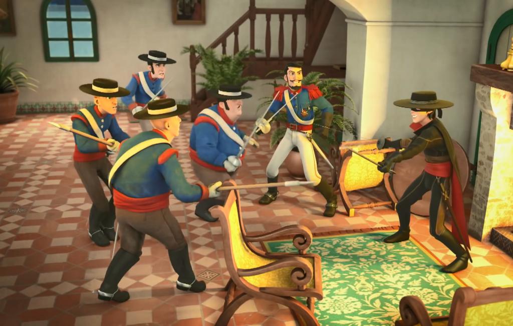 04 - pojedynek Zorro 5 przeciwników