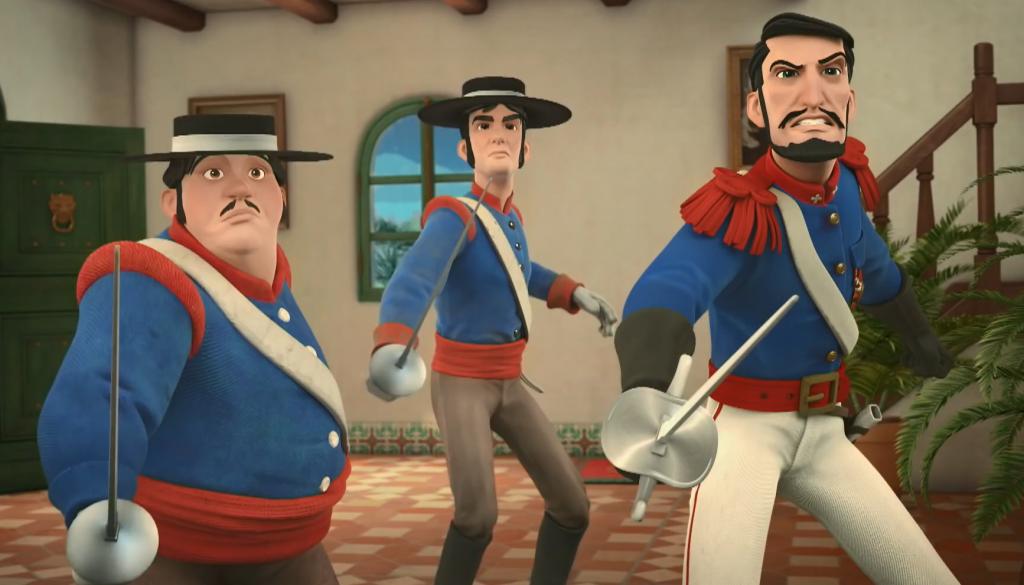 04 przeciwnicy Zorro - sierżant Garcia, kapral Gonzalez i kapitan Monasterio
