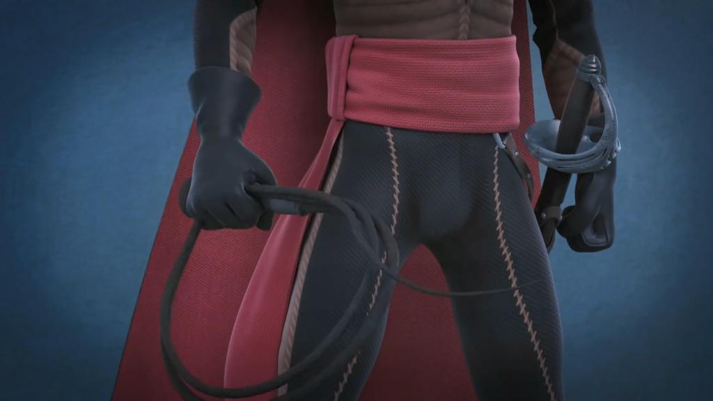 04 strój Zorro i bat