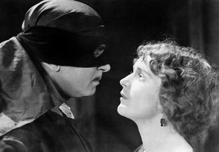 Douglas Fairbanks and Marguerite De La Motte in The Mark of Zorro (1920) 2