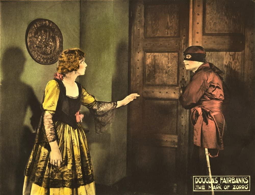 The Mark Of Zorro Marguerite De La Motte Douglas Fairbanks Sr 1920