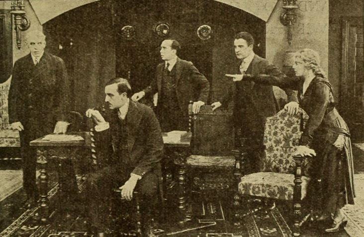 William Desmond, Joseph J. Dowling, Robert McKim, J. Barney Sherry, and Margaret Thompson in The Iced Bullet (1917)
