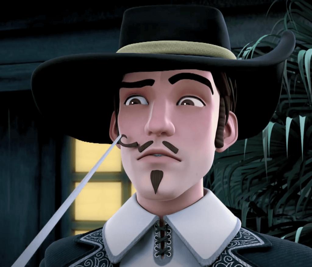 05 przeciwnicy Zorro - Ramirez z przyciętym wąsikiem