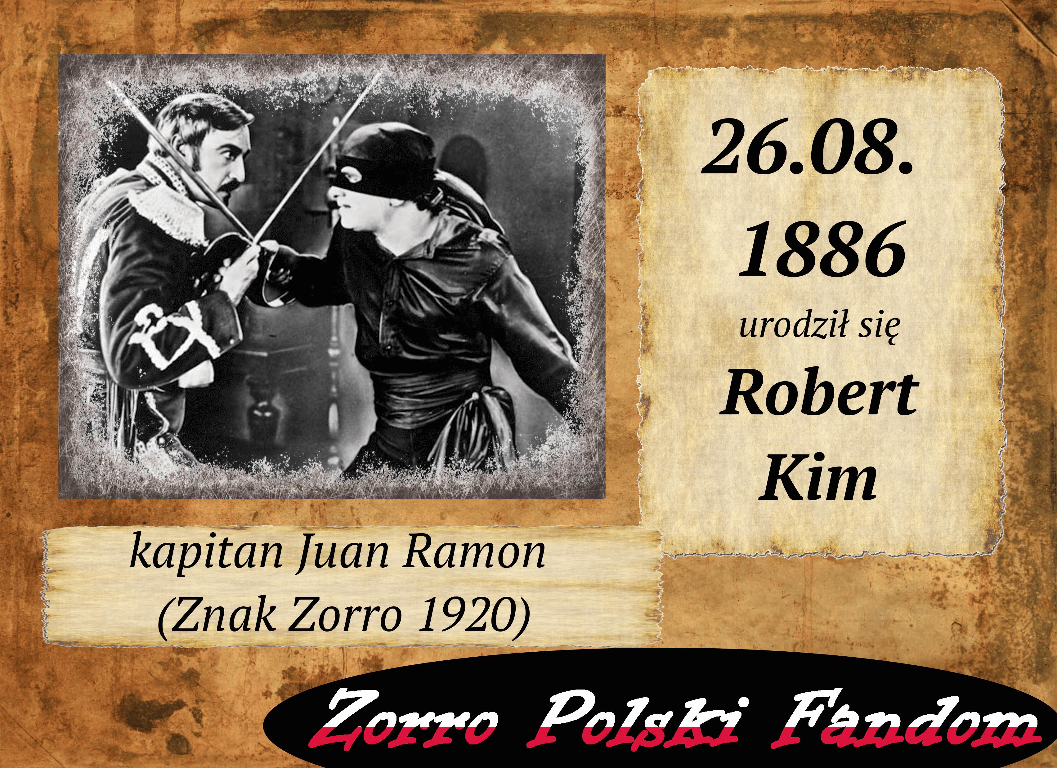 26 sierpnia ur. Robert McKim PL kapitan Juan Ramon