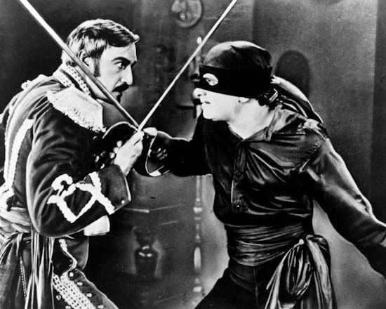 Douglas Fairbanks and Robert McKim in The Mark of Zorro (1920)