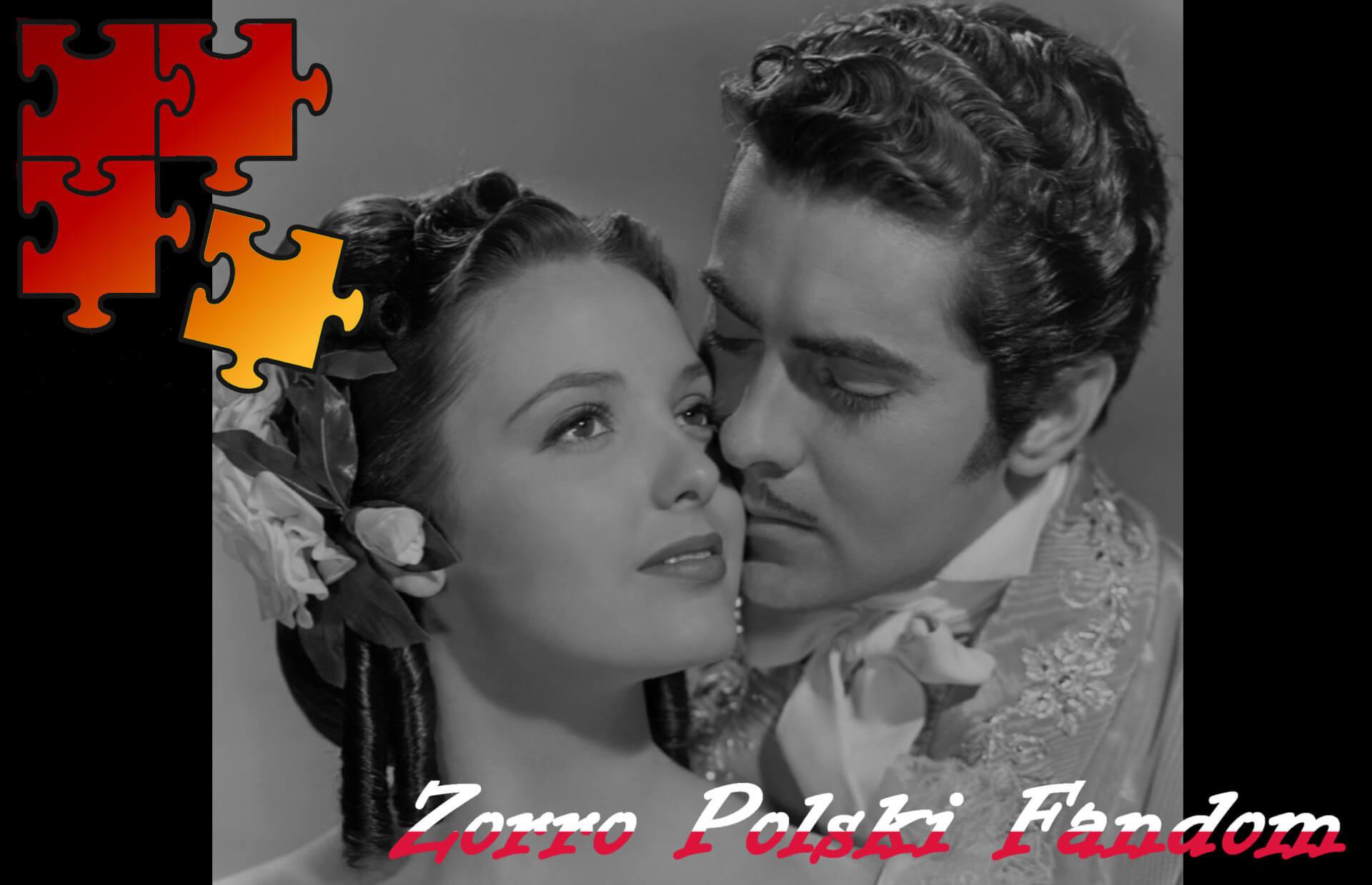 Jigsaw Puzzle Zorro Mark of Zorro 1940 - Diego i Lolita ENG