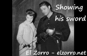 Zorro fiction - showing his sword ENG