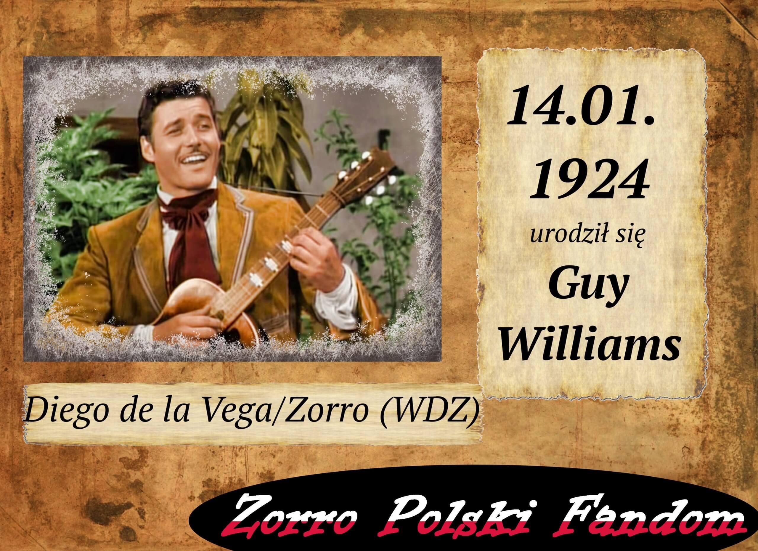 14 stycznia ur. Guy Williams PL
