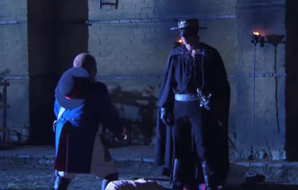 El Zorro, la Espada y la Rosa telenowela Zorro odcinek 1 - Garcia i Zorro