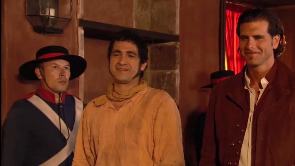 El Zorro, la Espada y la Rosa telenowela Zorro odcinek 1 - Miguel i Diego w sądzie