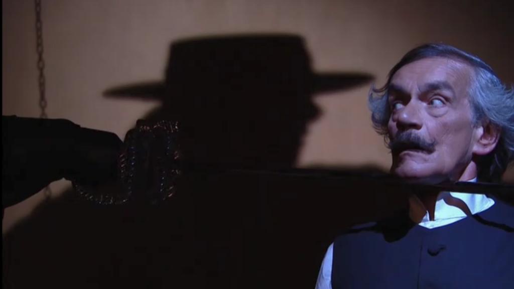 El Zorro, la Espada y la Rosa telenowela Zorro odcinek 1 - Zorro i sędzia Quintano