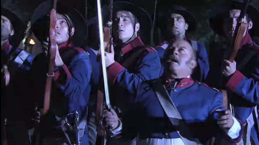 El Zorro, la Espada y la Rosa telenowela Zorro odcinek 2 - żołnierze