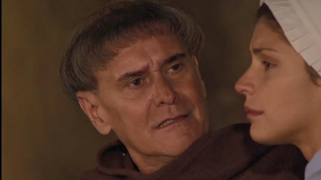 El Zorro, la Espada y la Rosa telenowela Zorro odcinek 2 - Maria Pia i ojciec Tomas