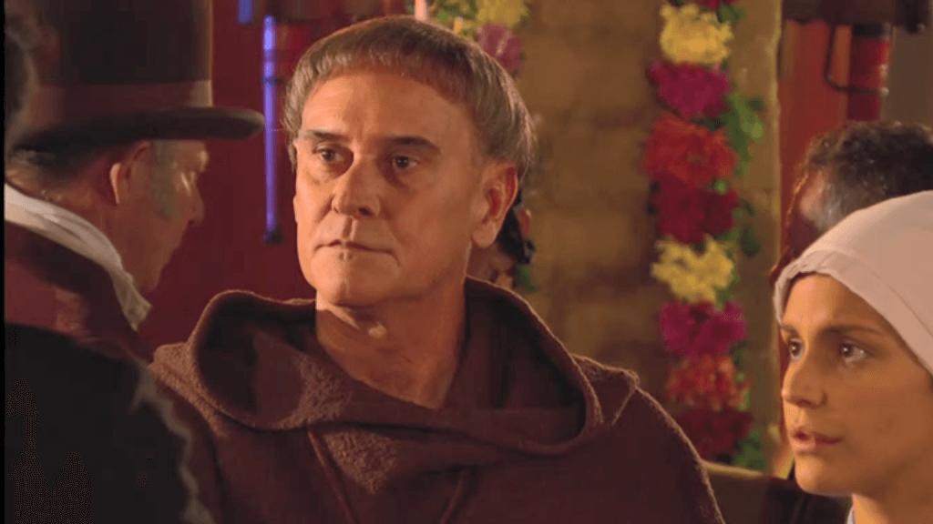 El Zorro, la Espada y la Rosa telenowela Zorro odcinek 2 - Maria Pia i ojciec Tomas na przyjęciu