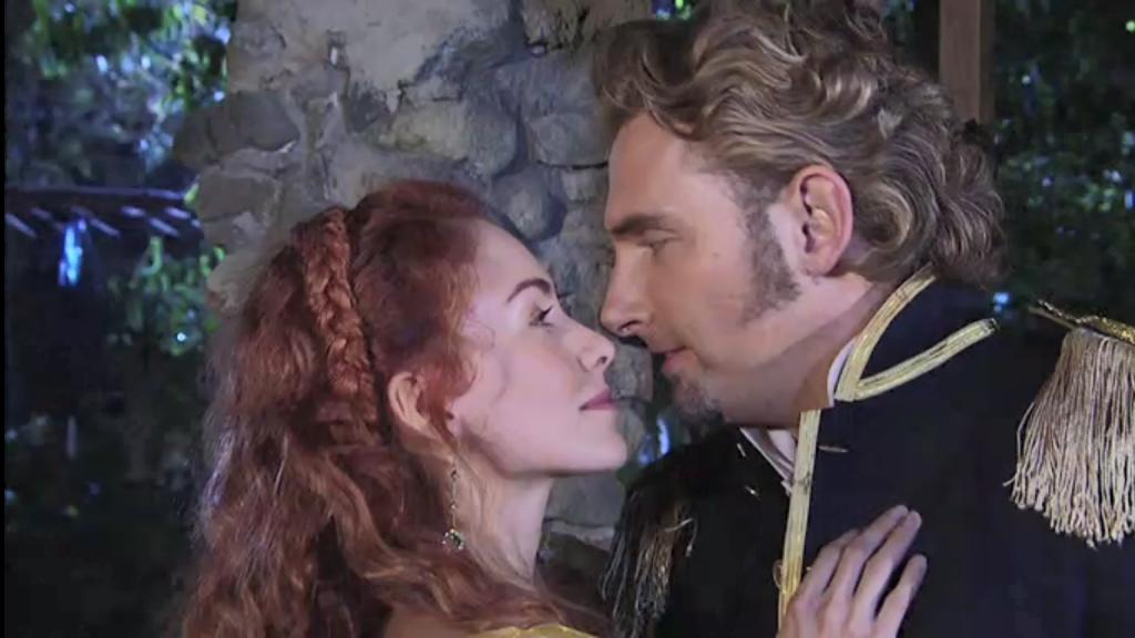 El Zorro, la Espada y la Rosa telenowela Zorro odcinek 2 - Mariangel i Montero