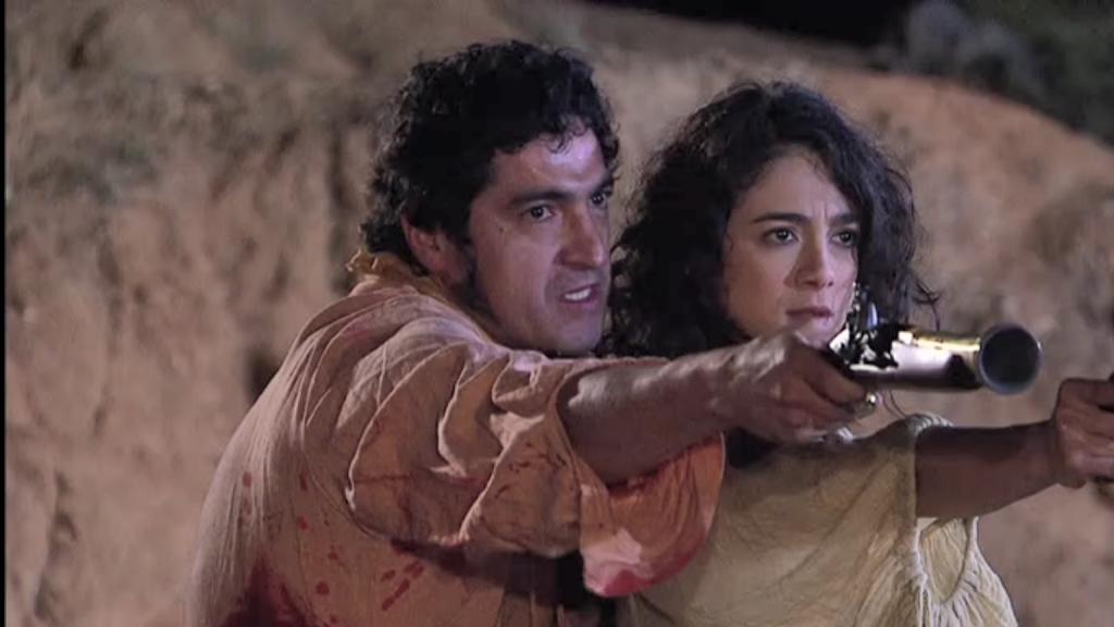 El Zorro, la Espada y la Rosa telenowela Zorro odcinek 2 - Miguel i Laisha