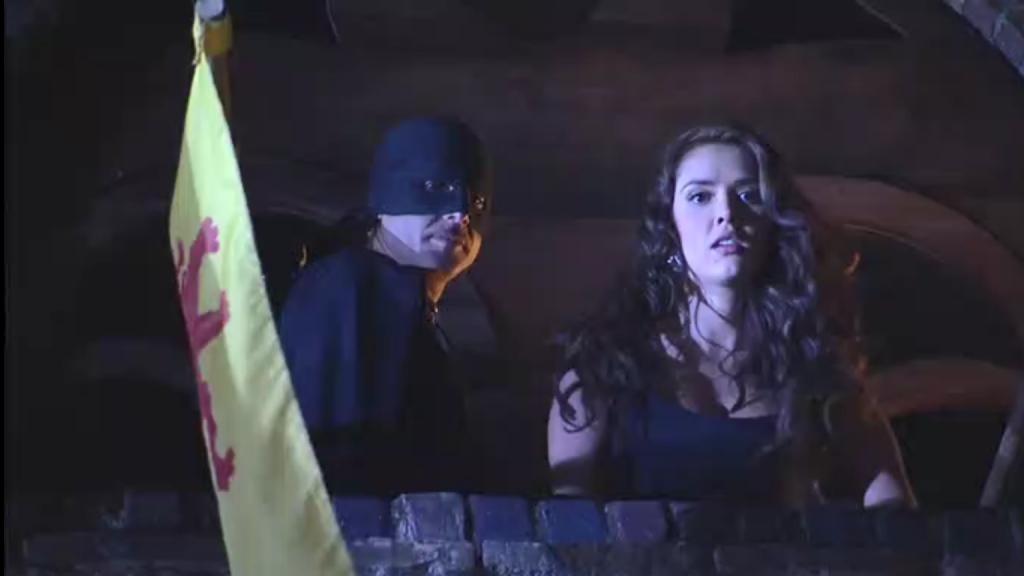 El Zorro, la Espada y la Rosa telenowela Zorro odcinek 2 - Zorro i Esmeralda przed skokiem