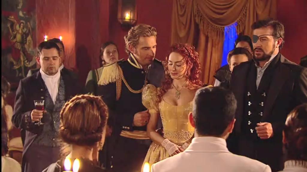 El Zorro, la Espada y la Rosa telenowela Zorro odcinek 2 - przyjęcie u gubernatora