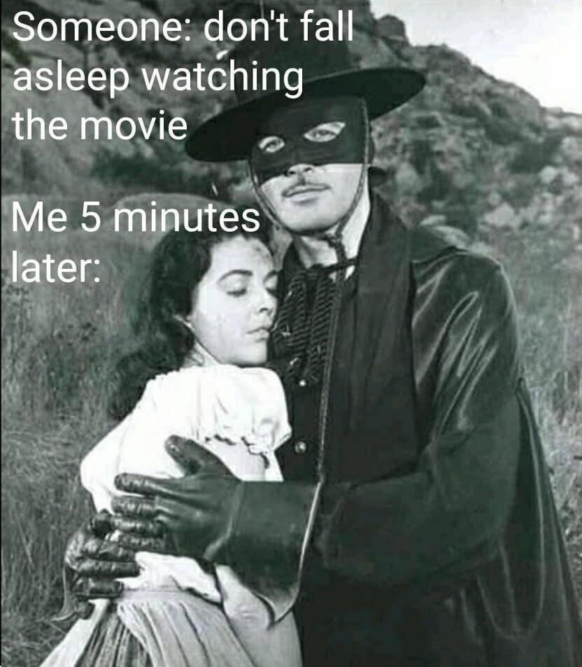 falling asleep on Zorro