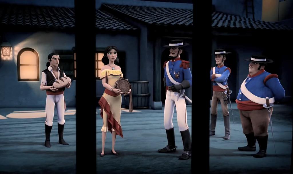 Kroniki Zorro odcinek 1 Powrót w garnizonie Zorro the Chronicles episode 1 The return