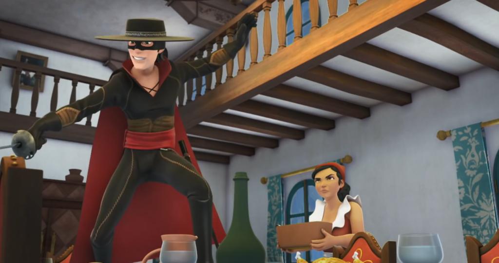 Kroniki Zorro odcinek 18 Pożądana dziedziczka Zorro na stole Zorro the Chronicles episode 18 The desirable heiress