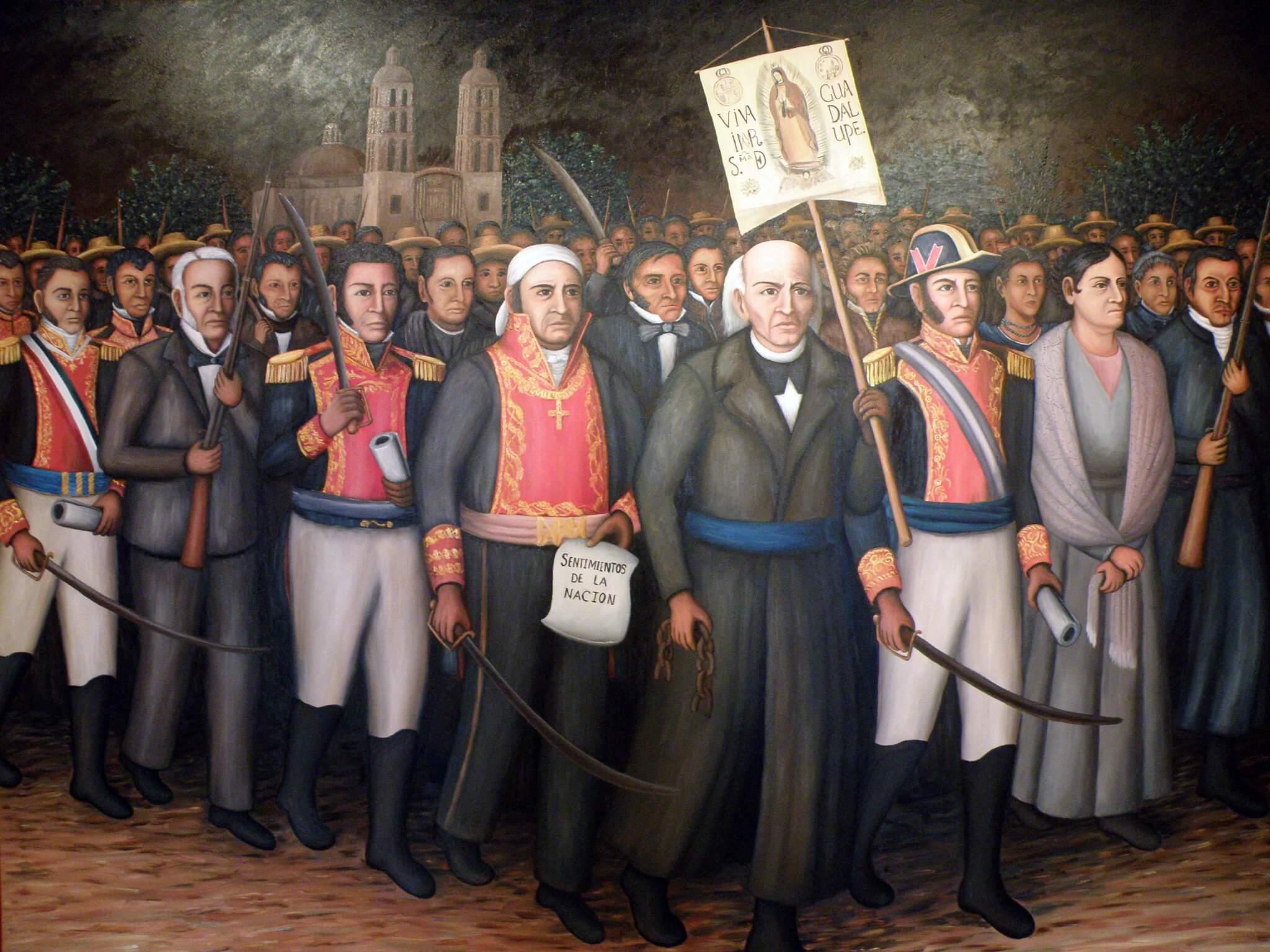 Miguel Hidalgo, Vicente Guerrero, Jose Maria Morelos, Pavon and others, author Eduardo Francisco Vazquez Murillo, by flickr, CC-BY-SA-2