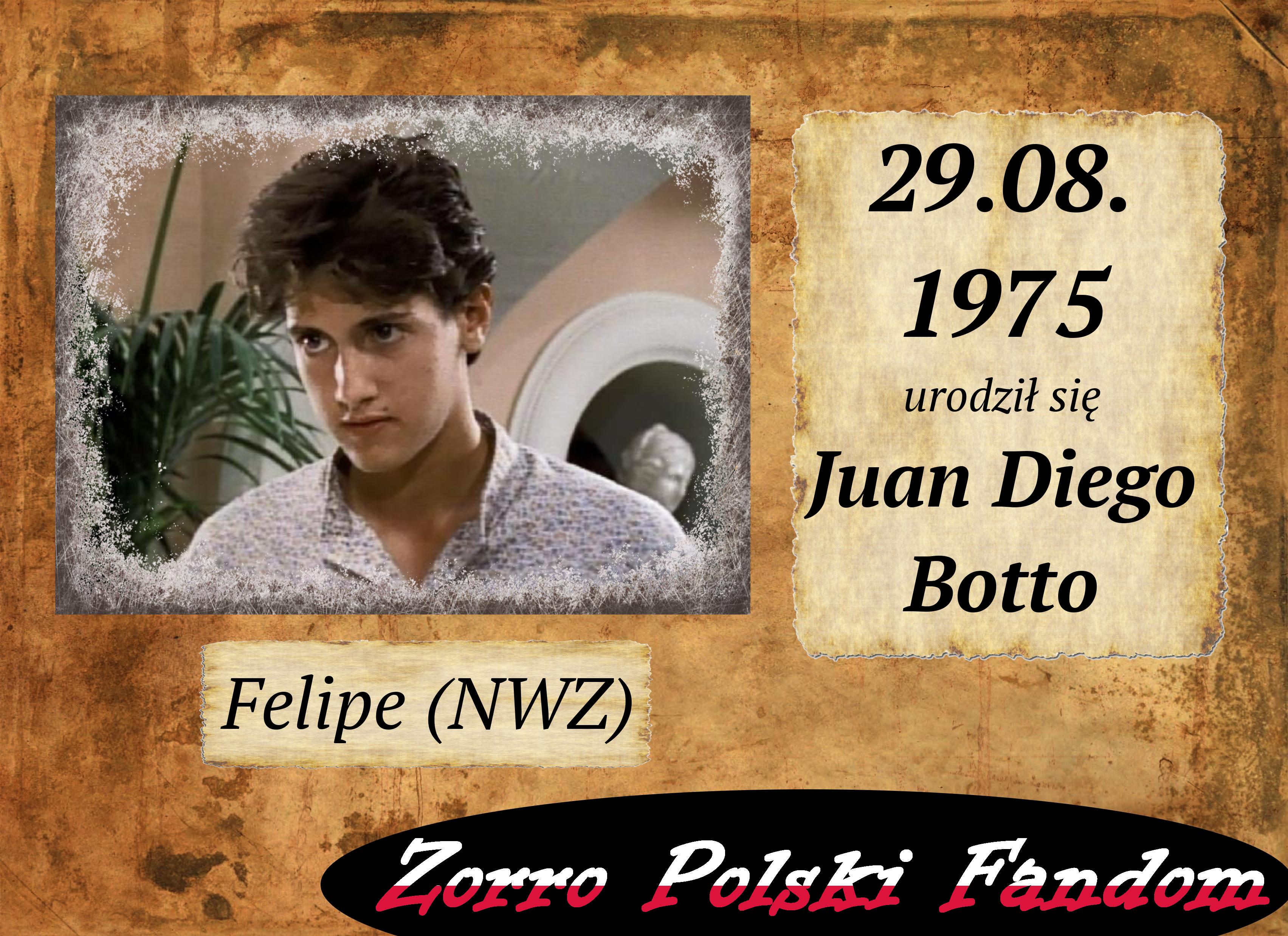 29 sierpnia ur. Juan Diego Botto PL Felipe NWZ